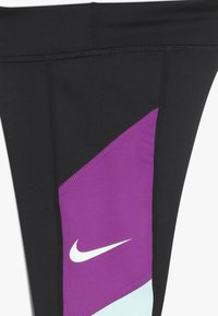 Nike Performance - TROPHY - Leggings - black/teal tint/vivid purple/white - 3