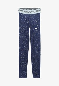 Nike Performance - PRINT - Leggings - blue void/teal tint - 3