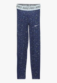 Nike Performance - PRINT - Leggings - blue void/teal tint - 0