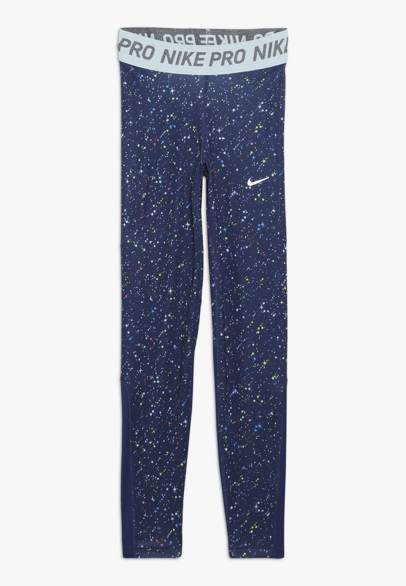Nike Performance - PRINT - Leggings - blue void/teal tint