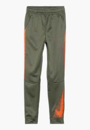 THERMA PANT - Pantalon de survêtement - medium olive/total orange