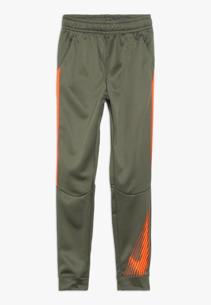 Nike Performance - THERMA PANT - Trainingsbroek - medium olive/total orange