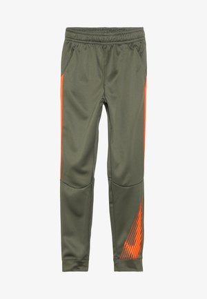 THERMA PANT - Spodnie treningowe - medium olive/total orange