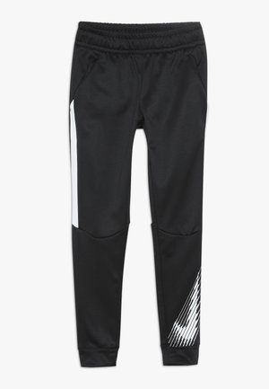 THERMA PANT - Tracksuit bottoms - black/white