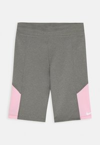 Nike Performance - TROPHY BIKE SHORT - Leggings - carbon heather/pink - 0