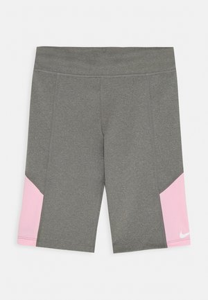 TROPHY BIKE SHORT - Leggings - carbon heather/pink