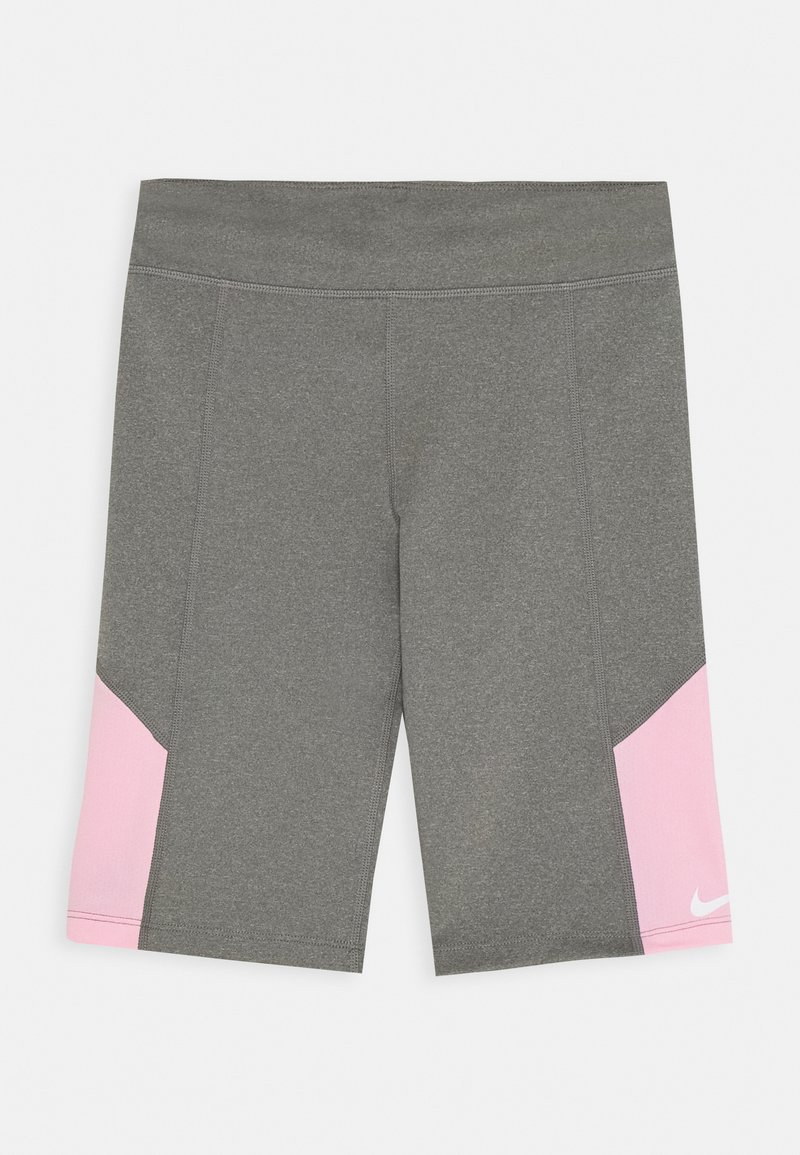 Nike Performance - TROPHY BIKE SHORT - Leggings - carbon heather/pink
