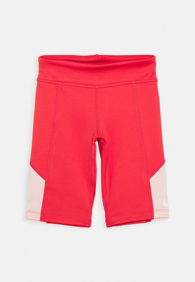 TROPHY BIKE SHORT - Leggings - track red/washed coral/white