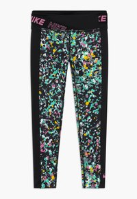 Nike Performance - ONE - Leggings - black/magic flamingo - 0