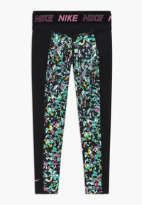 Nike Performance - ONE - Leggings - black/magic flamingo