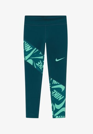 TROPHY - Leggings - midnight turq/emerald rise