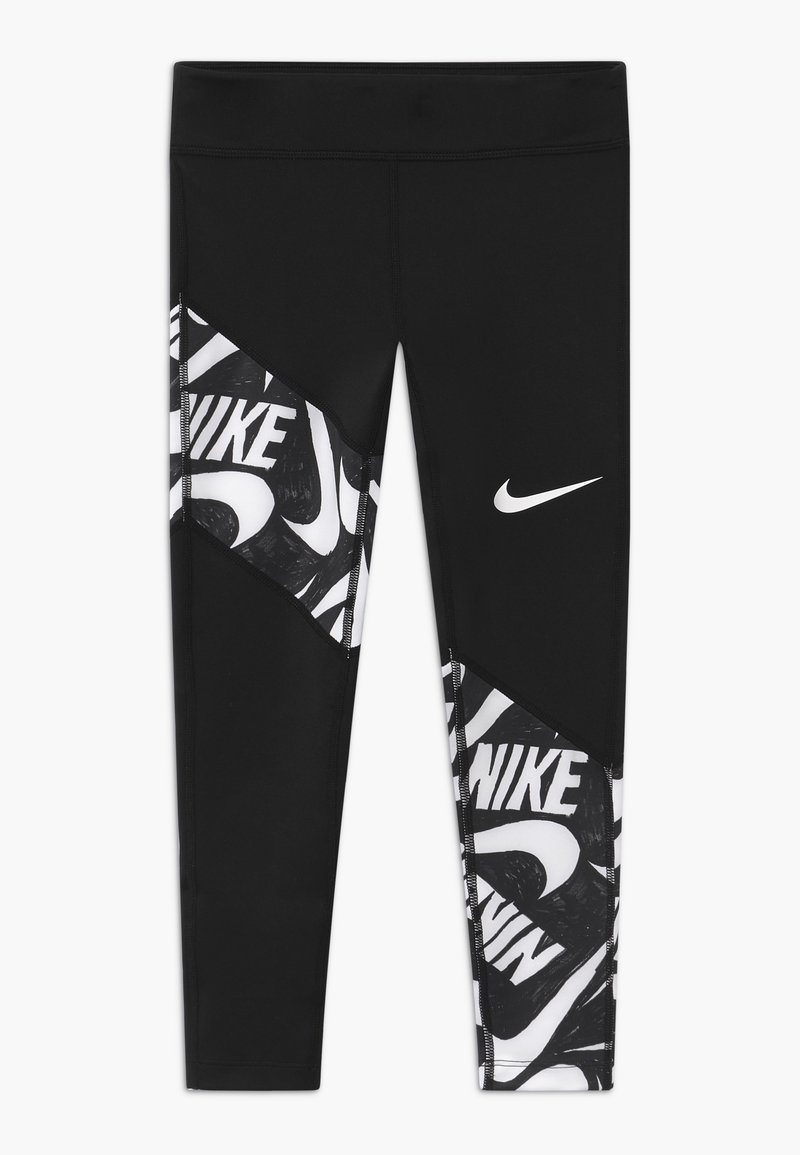 Nike Performance - TROPHY - Leggings - black/white