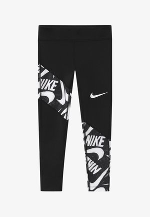 TROPHY - Leggings - black/white