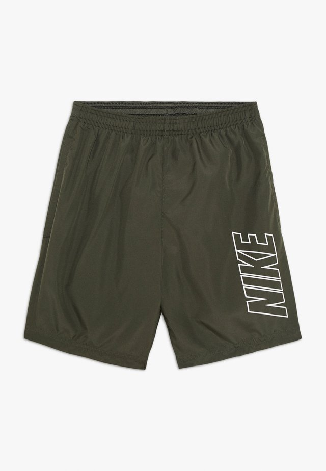 DRY ACADEMY SHORT - Pantalón corto de deporte - khaki/white