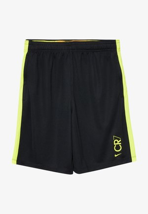 CR7 DRY  - Sports shorts - black/lemon