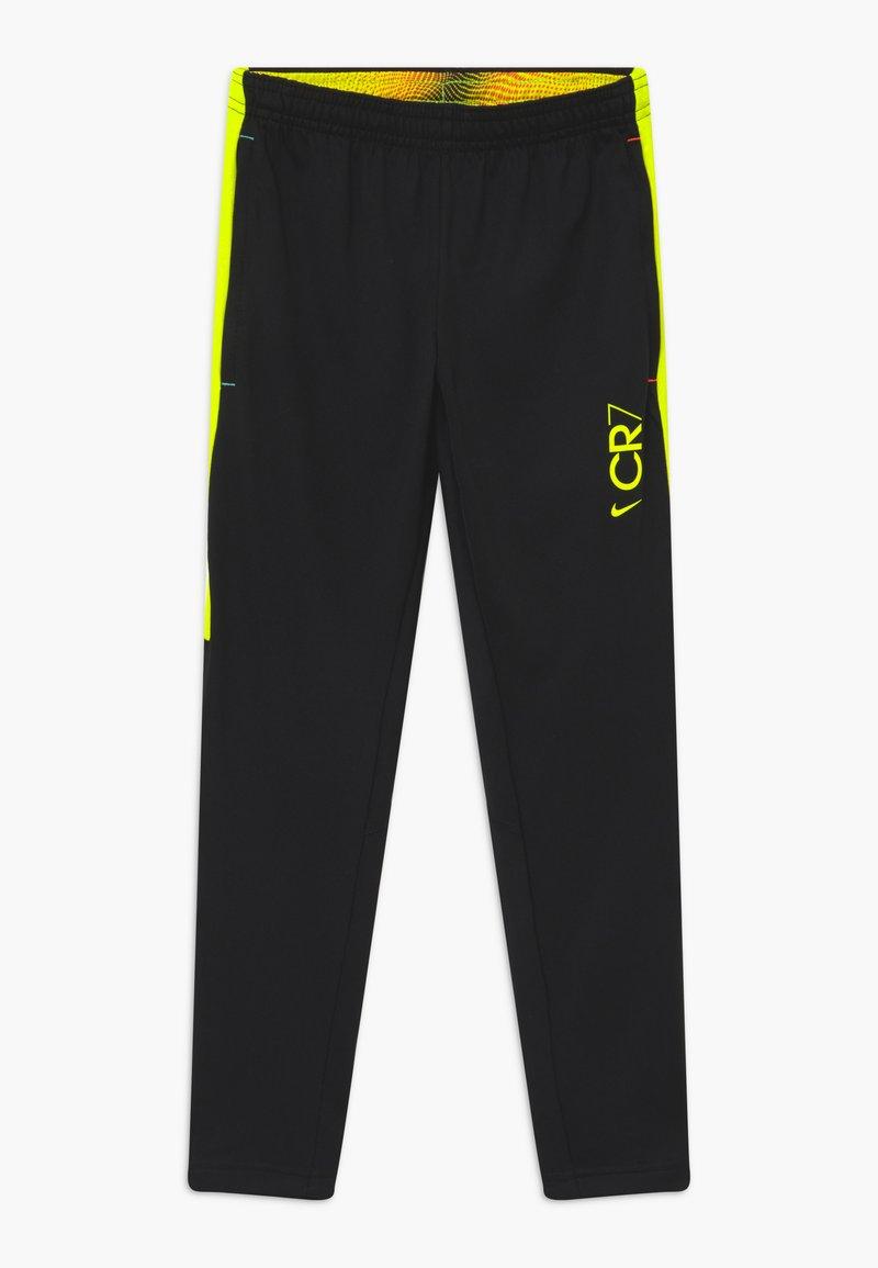 Nike Performance - DRY - Tracksuit bottoms - black/lemon