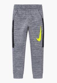 Nike Performance - THERMA - Träningsbyxor - smoke grey/black/lemon - 0