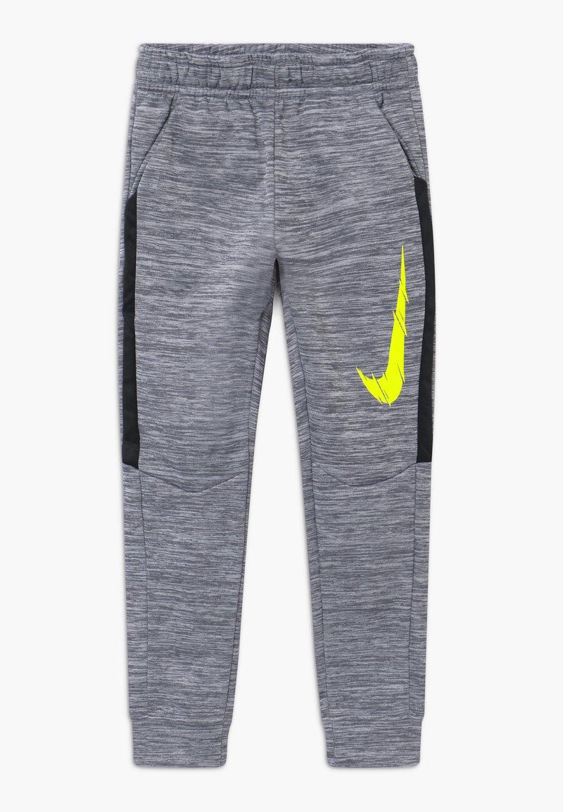 Nike Performance - THERMA - Träningsbyxor - smoke grey/black/lemon