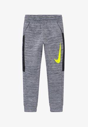 THERMA - Spodnie treningowe - smoke grey/black/lemon