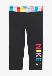 Nike Performance - Leggings - black/white/track red - 2