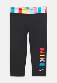 Nike Performance - Leggings - black/white/track red - 0
