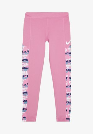 TROPHY  - Legging - magic flamingo/emerald rise