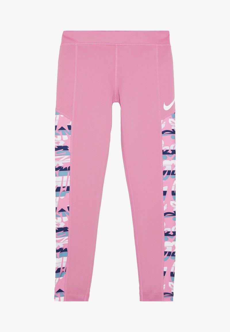 Nike Performance - TROPHY  - Leggings - magic flamingo/emerald rise