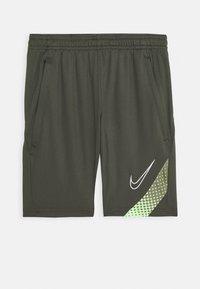 Nike Performance - DRY ACADEMY SHORT - Korte sportsbukser - cargo khaki/thermal green/white - 0