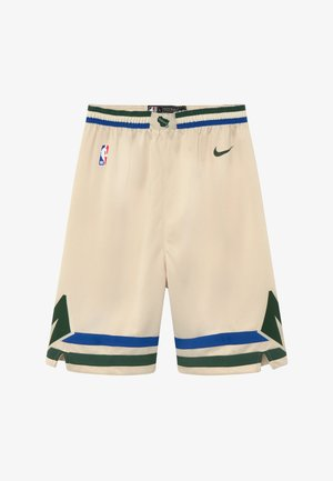 NBA MILWAUKEE BUCKS BOYS CITY EDITION SWINGMAN SHORT - Sportovní kraťasy - flat opal