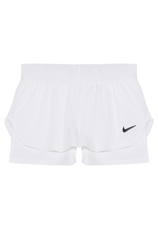 SHORT 2-IN-1 - Korte sportsbukser - white/black