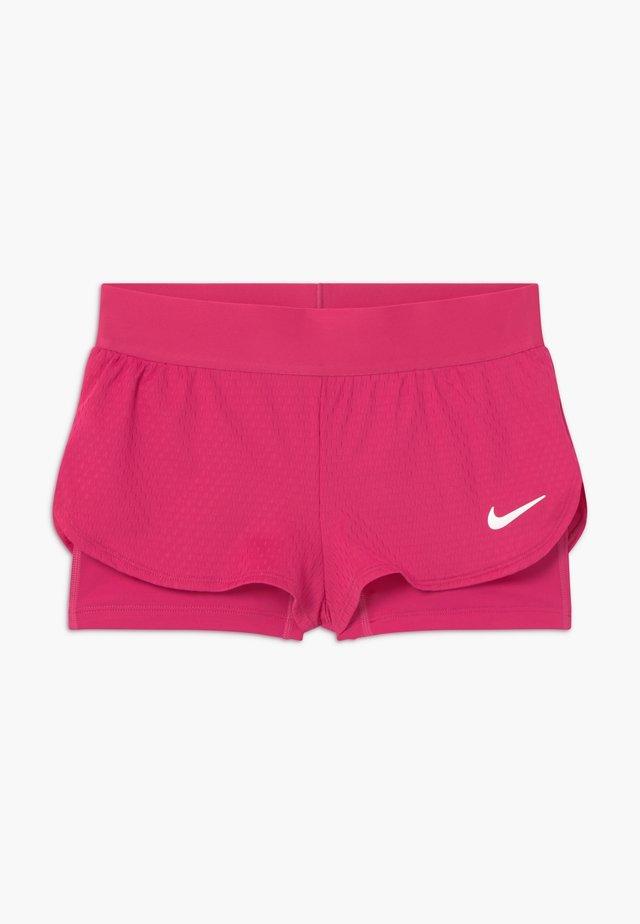 SHORT 2-IN-1 - kurze Sporthose - vivid pink/white