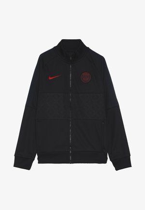 PARIS ST GERMAIN - Trainingsvest - oil grey/obsidian/university red