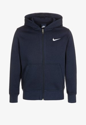 FULL ZIP - veste en sweat zippée - obsidian/white