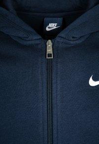 Nike Performance - FULL ZIP - Zip-up hoodie - obsidian/white - 2