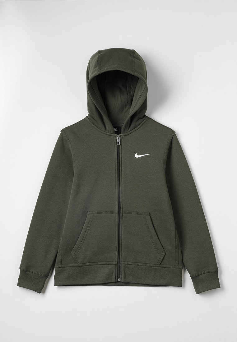 Nike Performance - FULL ZIP - Zip-up hoodie - cargo khaki/white
