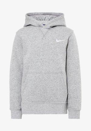 Luvtröja - dk grey heather/white