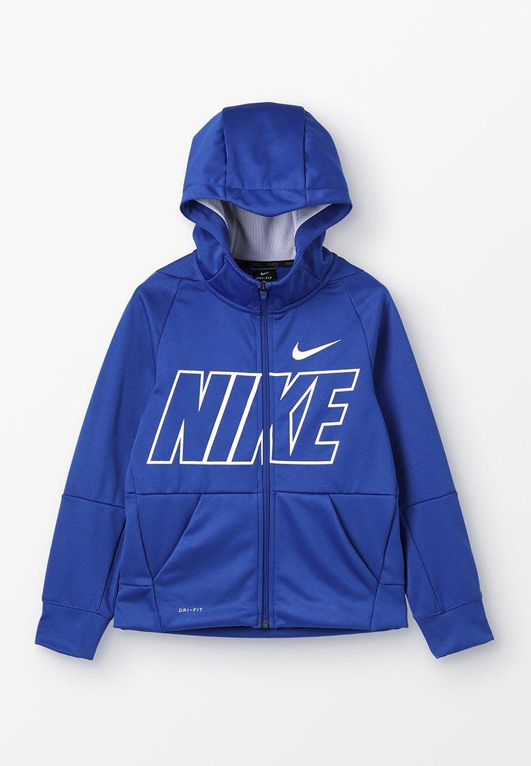 Nike Performance - THERMA HOODIE - Sweatjacke - indigo force/white