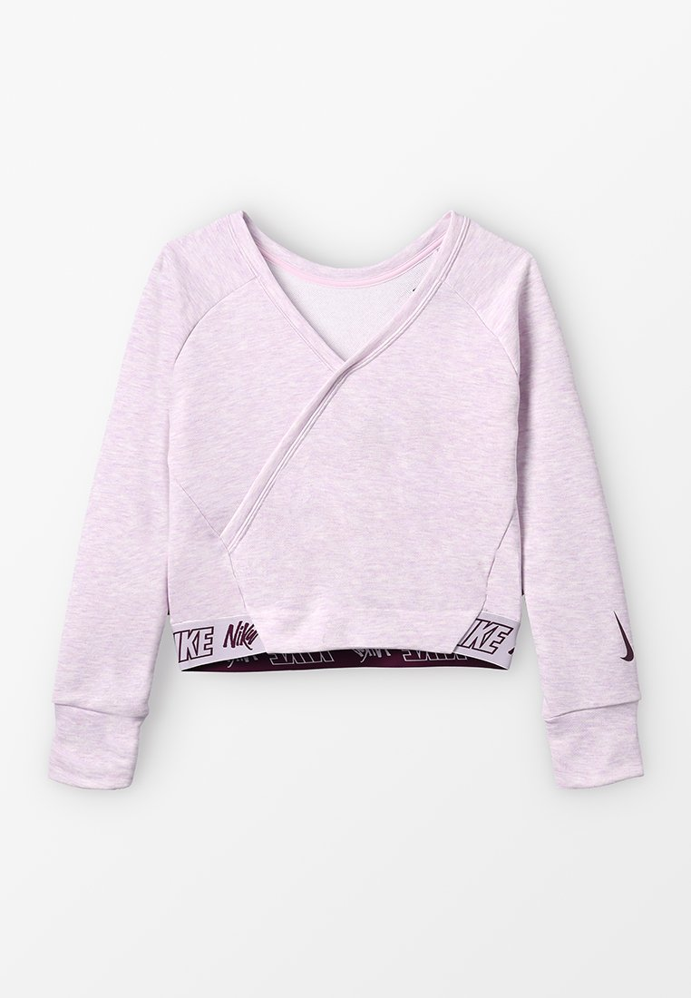 Nike Performance - STUDIO REVERSIBLE - Sweatshirt - pink foam/heather/bordeaux