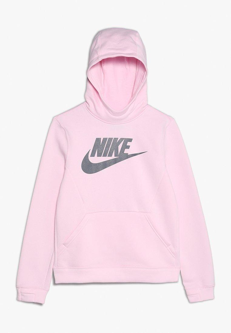 Nike Performance - HOODIE CLUB - Kapuzenpullover - pink foam/gunsmoke