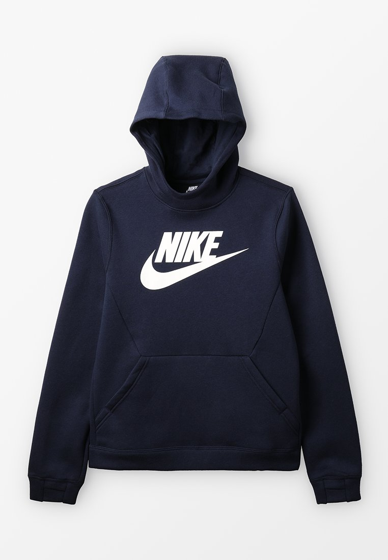 Nike Performance - HOODIE CLUB - Hættetrøjer - obsidian/white