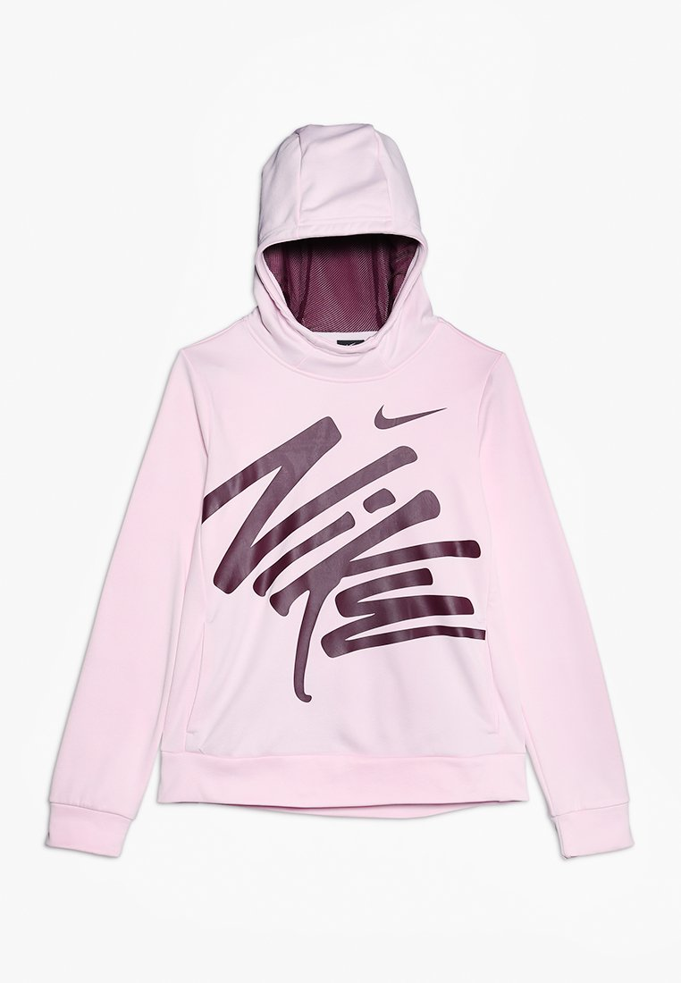 Nike Performance - HOODIE THERMA - Hoodie - pink foam/bordeaux