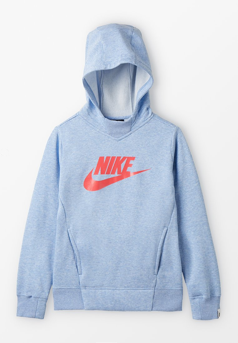 Nike Performance - HOODIE  - Hoodie - aluminum/heather/ember glow