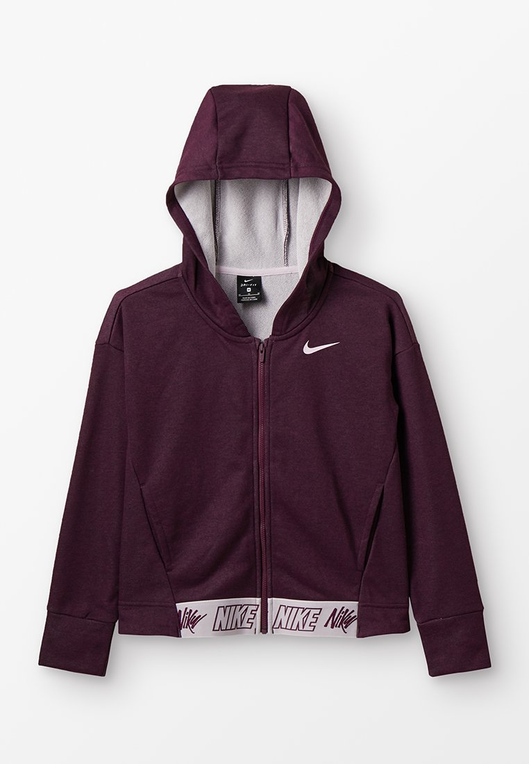 Nike Performance - HOODIE STUDIO - Sweatjacke - bordeaux/heather/pink foam