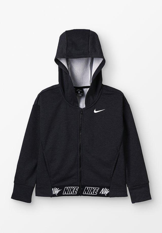 STUDIO - Zip-up hoodie - black/heather/black/white