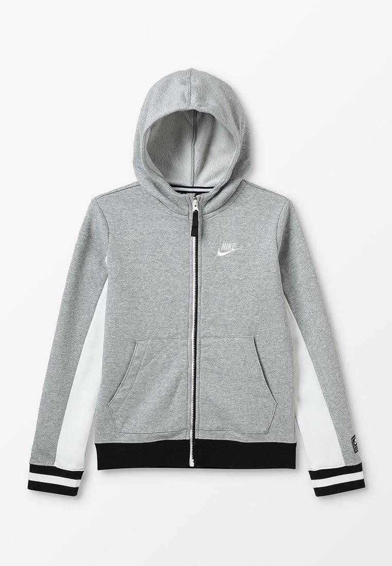 Nike Performance - Sweatjacke - dark grey heather/sail/black/sail