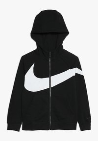 Nike Performance - HOODIE - Bluza rozpinana - black/white - 0