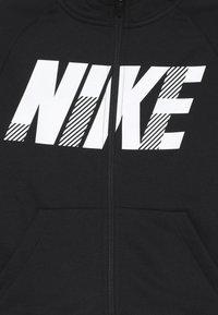 Nike Performance - DRY HOODIE - Huvtröja med dragkedja - black/white - 3