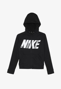 Nike Performance - DRY HOODIE - Huvtröja med dragkedja - black/white - 2