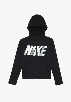 DRY HOODIE - veste en sweat zippée - black/white