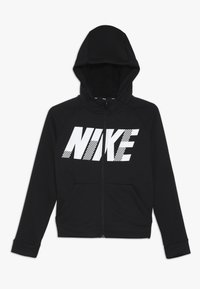 Nike Performance - DRY HOODIE - Hoodie met rits - black/white - 0